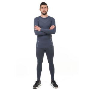 Термо бельо марка KSPORT мъжки комплект сив цвят - снимка 2