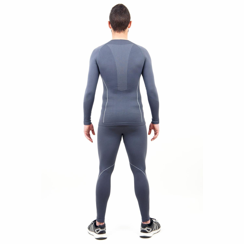 Термо бельо марка KSPORT мъжки комплект сив цвят - снимка 4