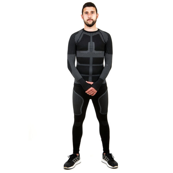 Термо комплект мъжки марка KSPORT серия KPROTERM черен цвят - снимка 1