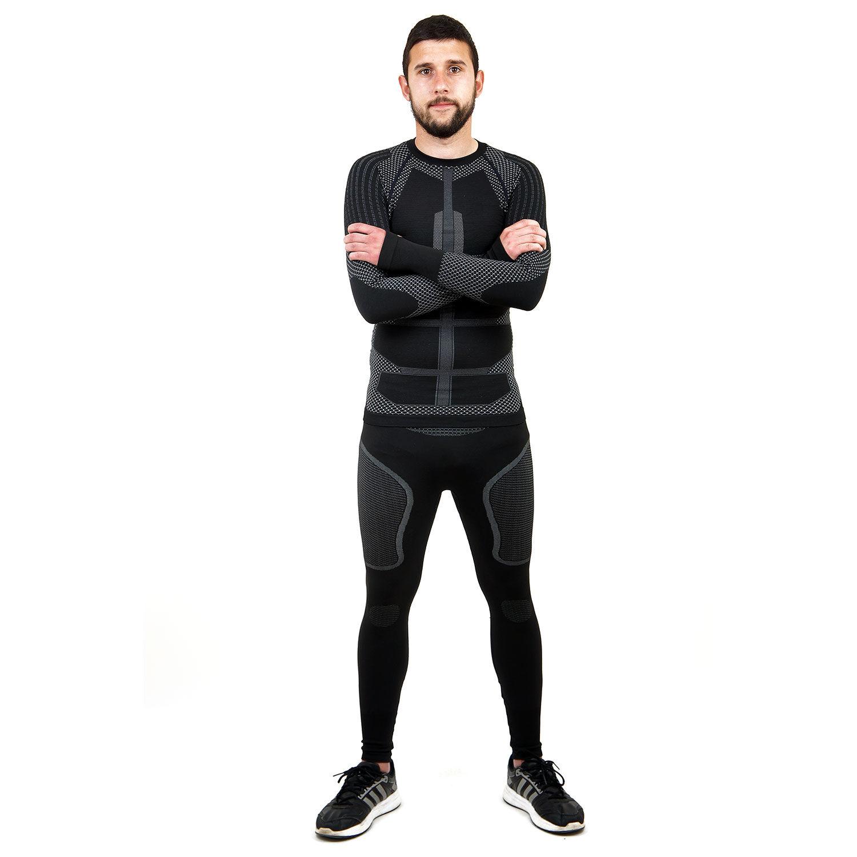 Термо комплект мъжки марка KSPORT серия KPROTERM черен цвят - снимка 2