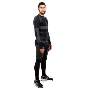 Термо комплект мъжки марка KSPORT серия KPROTERM черен цвят - снимка 3