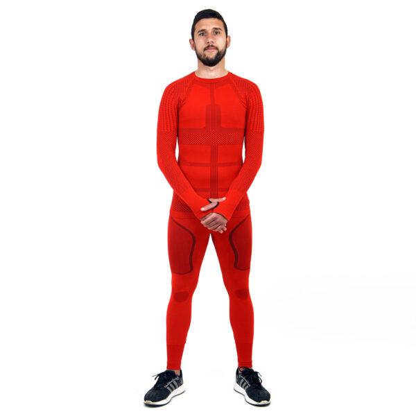 Термо комплект мъжки марка KSPORT серия KPROTERM червен цвят - снимка 1