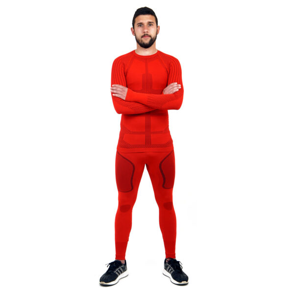Термо комплект мъжки марка KSPORT серия KPROTERM червен цвят - снимка 2