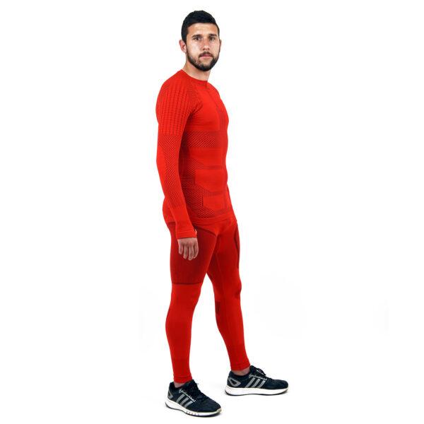 Термо комплект мъжки марка KSPORT серия KPROTERM червен цвят - снимка 3