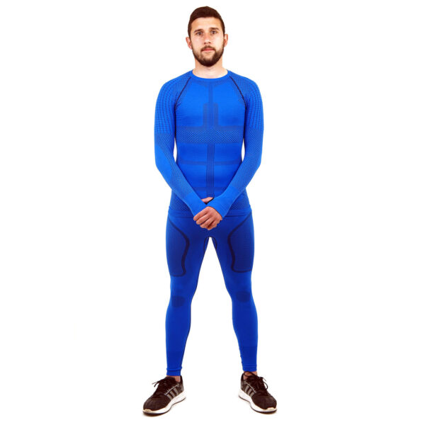 Термо комплект мъжки марка KSPORT серия KPROTERM син цвят - снимка 1