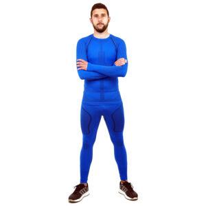 Термо комплект мъжки марка KSPORT серия KPROTERM син цвят - снимка 2