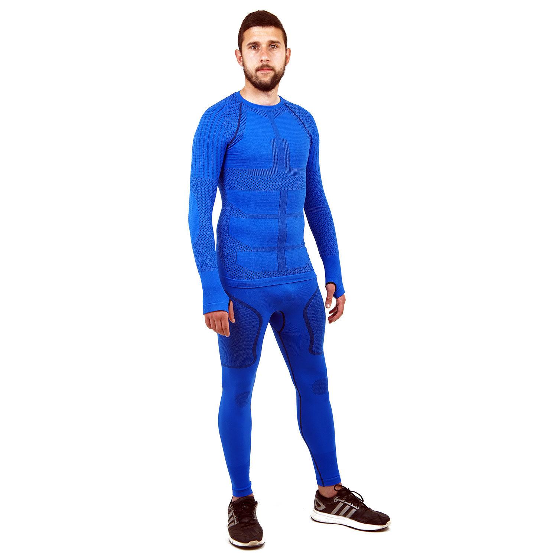 Термо комплект мъжки марка KSPORT серия KPROTERM син цвят - снимка 3