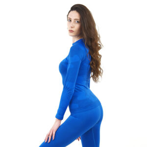Дамска термо блуза с дълъг ръкав марка KSPORT цвят синьо комо - снимка 1