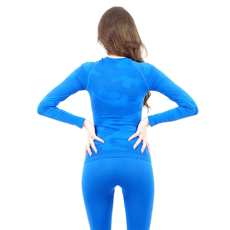 Дамска термо блуза с дълъг ръкав марка KSPORT цвят синьо комо - снимка 4