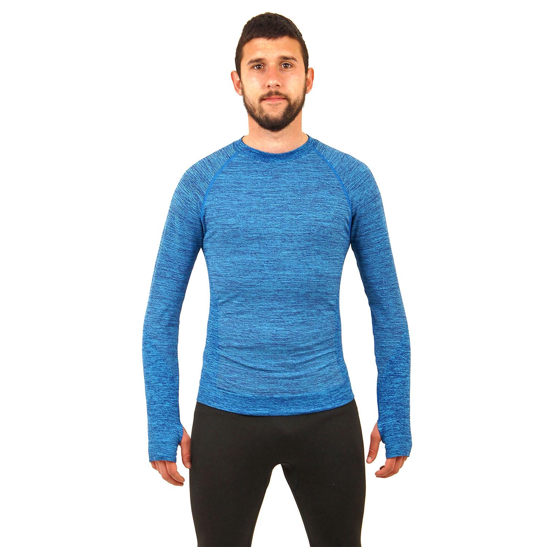 Мъжка термо блуза марка KSPORT син цвят - снимка 1