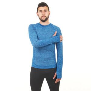 Мъжка термо блуза марка KSPORT син цвят - снимка 2