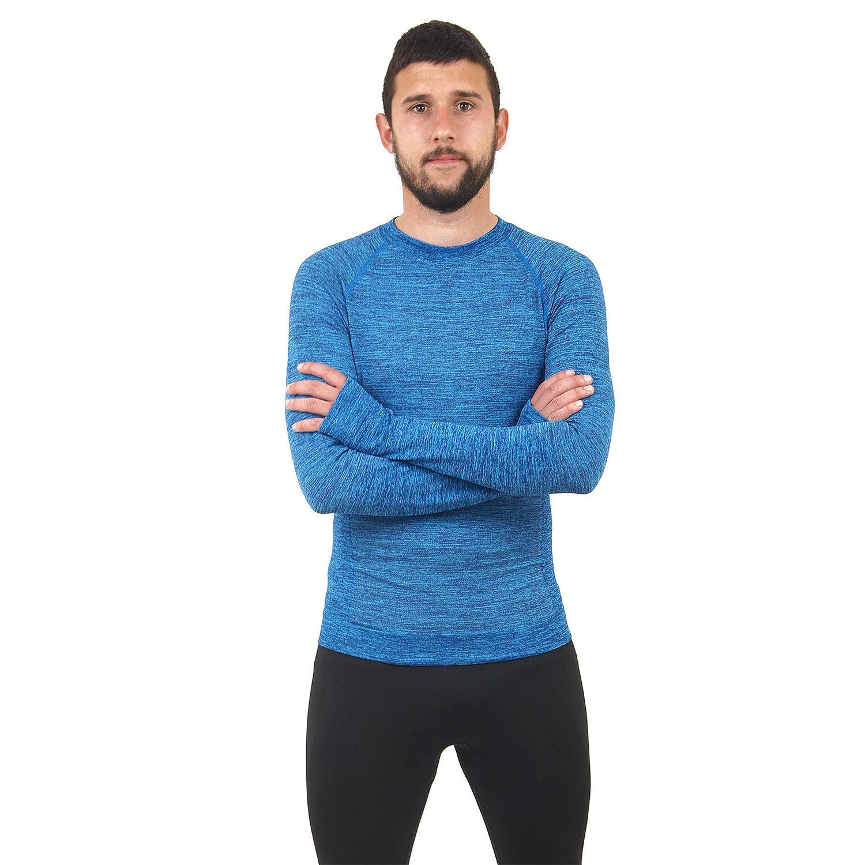 Мъжка термо блуза марка KSPORT син цвят - снимка 3