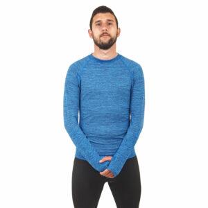 Мъжка термо блуза марка KSPORT син цвят - снимка 4
