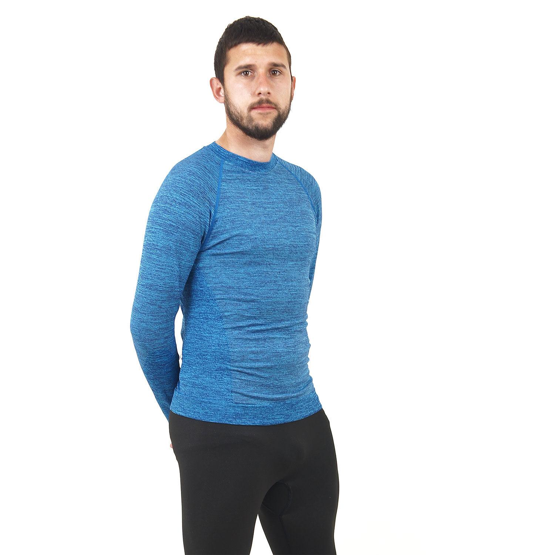 Мъжка термо блуза марка KSPORT син цвят - снимка 5