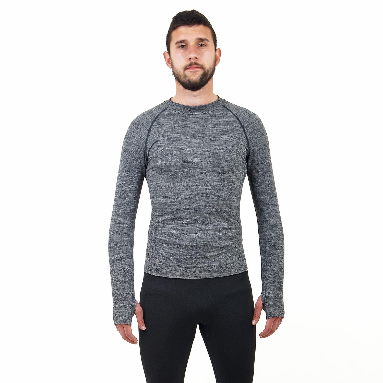 Мъжка термо блуза марка KSPORT сив цвят - снимка 1