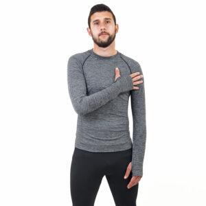 Мъжка термо блуза марка KSPORT сив цвят - снимка 2