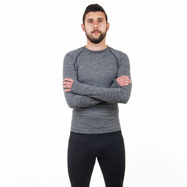 Мъжка термо блуза марка KSPORT сив цвят - снимка 3