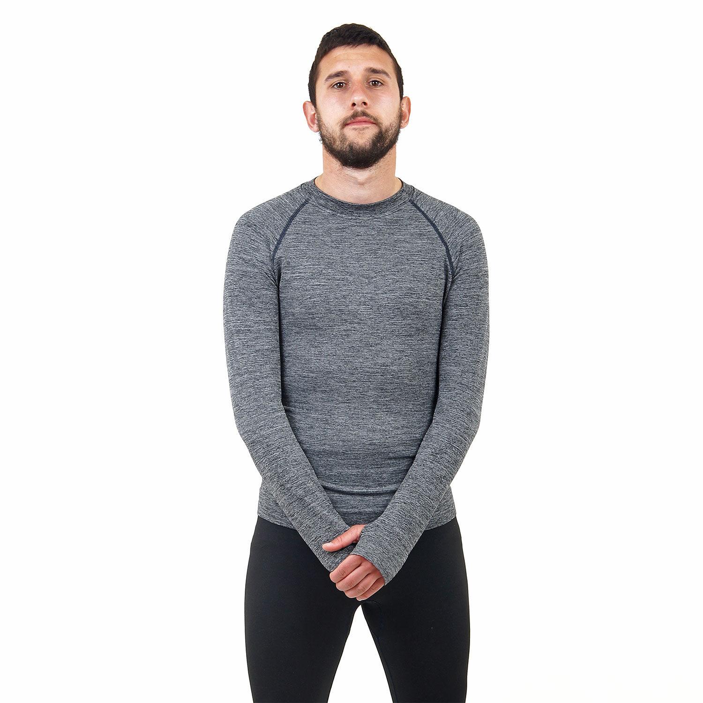 Мъжка термо блуза марка KSPORT сив цвят - снимка 4