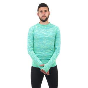 Мъжка термо блуза марка KSPORT зелен цвят - снимка 1