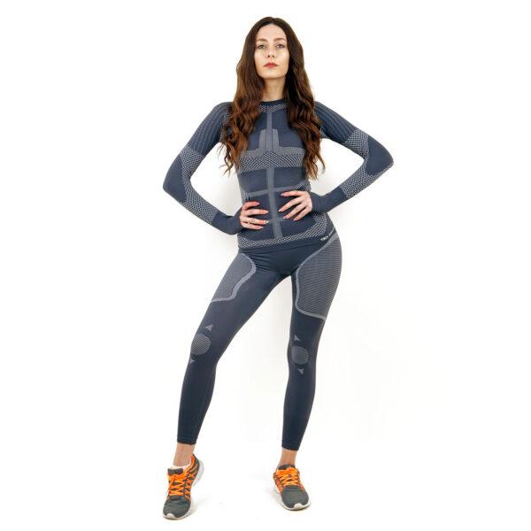 Термо клин дамски KSPORT серия KPROTERM сив цвят - снимка 3