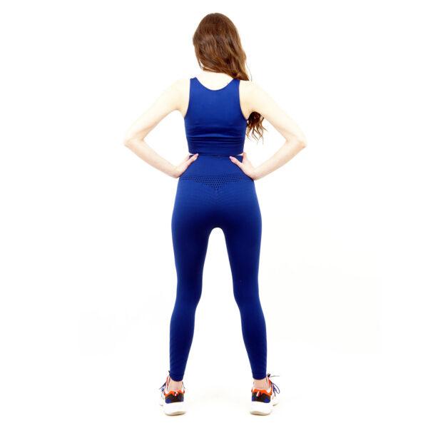 Термо комплект дамски KSPORT серия KFIT бюстие с клин син цвят - снимка 4
