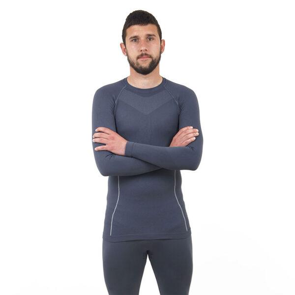 Термо бельо - мъжкa блуза марка KSPORT сив цвят - снимка 3