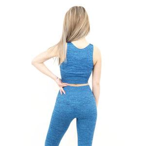 Спортно бюстие KSPORT серия KFLUSH цвят син капри меланж - снимка 4