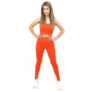 Спортен комплект KSPORT серия KFLUSH бюстие с клин дамски в червен цвят - снимка 1