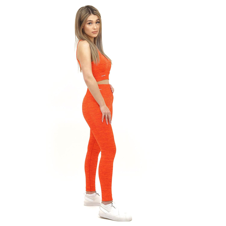 Спортен комплект KSPORT серия KFLUSH бюстие с клин дамски в червен цвят - снимка 2