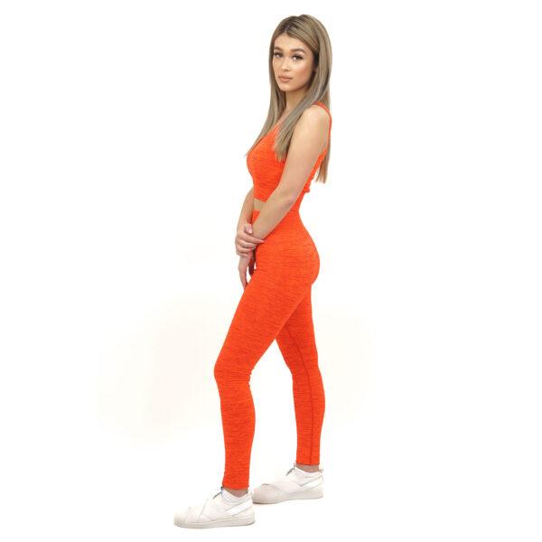 Спортен комплект KSPORT серия KFLUSH бюстие с клин дамски в червен цвят - снимка 3