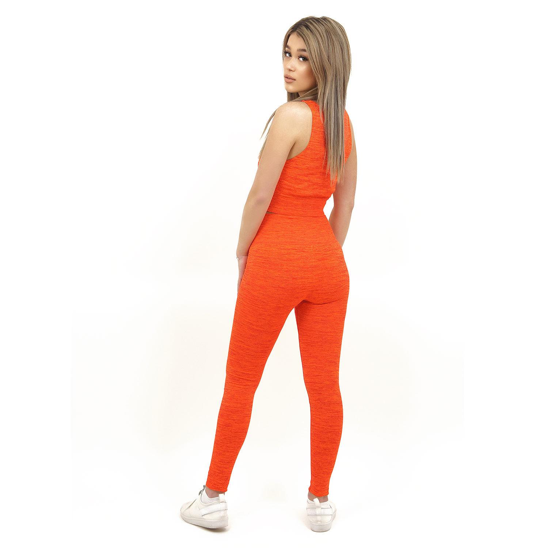 Спортен комплект KSPORT серия KFLUSH бюстие с клин дамски в червен цвят - снимка 4