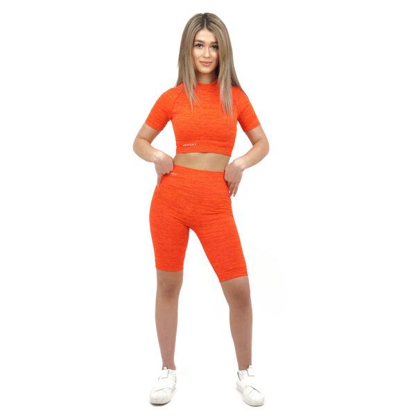 Спортен къс клин дамски KSPORT серия KFLUSH в червен цвят - снимка 1