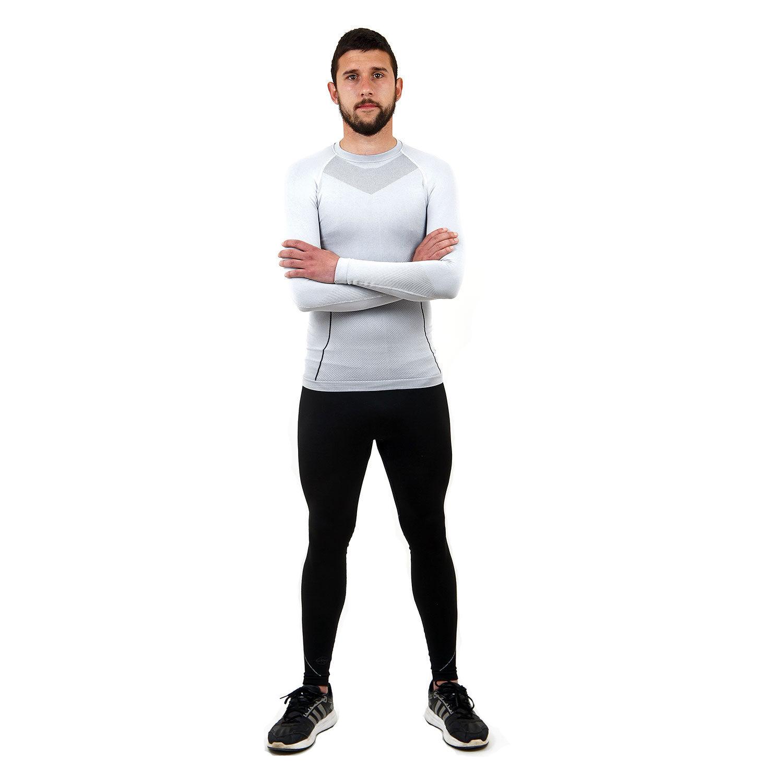 Термо бельо марка KSPORT мъжки комплект в бяло и черно - снимка 1