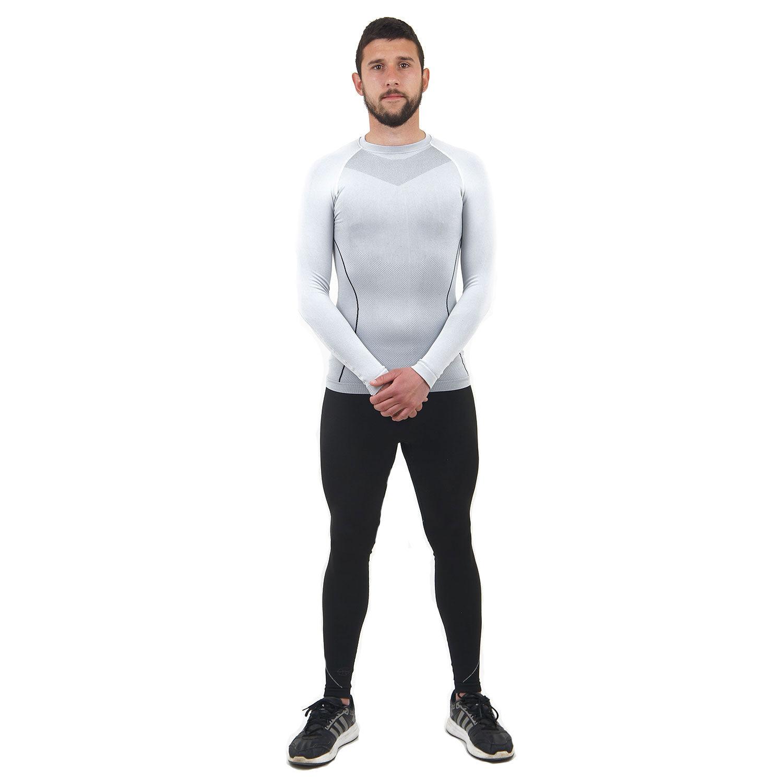 Термо бельо марка KSPORT мъжки комплект в бяло и черно - снимка 2