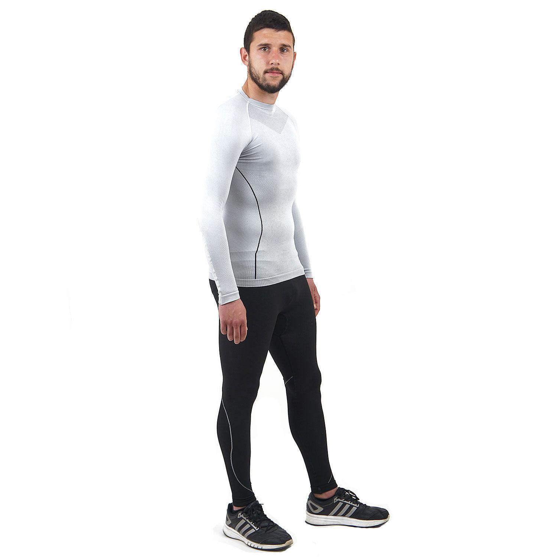 Термо бельо марка KSPORT мъжки комплект в бяло и черно - снимка 4