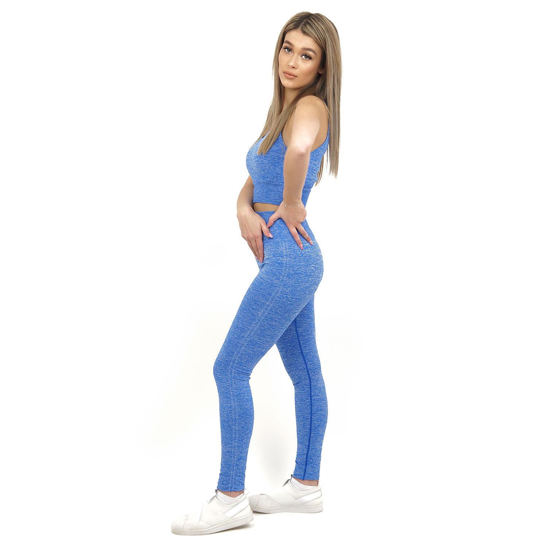 Спортен комплект KSPORT серия KFLUSH бюстие с клин дамски в син цвят - снимка 3