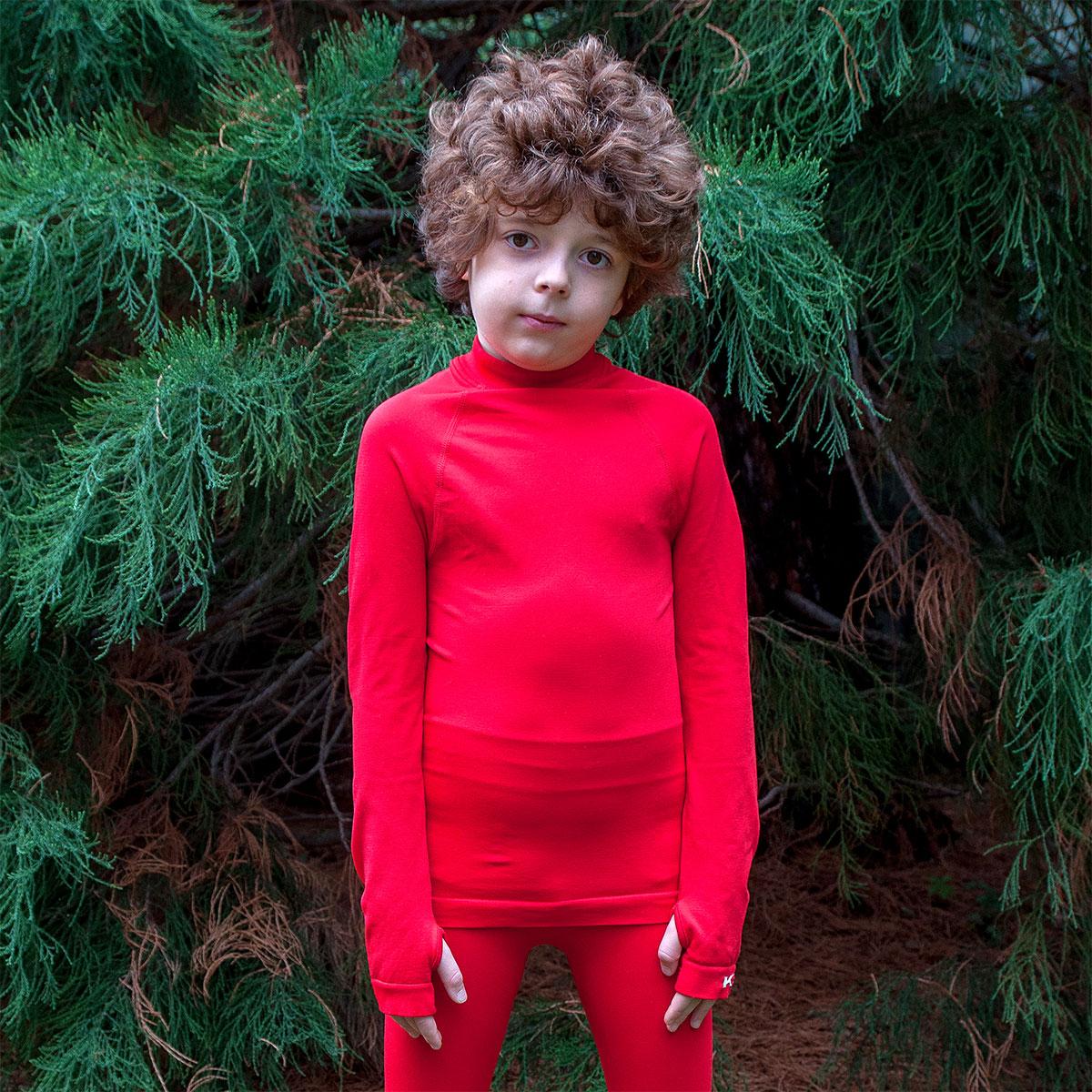 детска термо блуза ksport червена - снимка 1