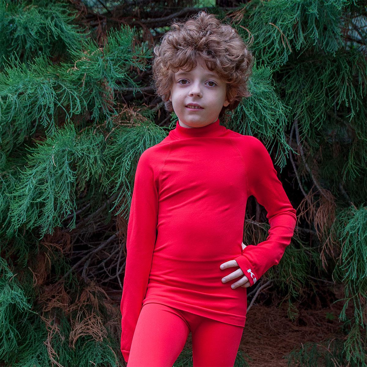 детска термо блуза ksport червена - снимка 2
