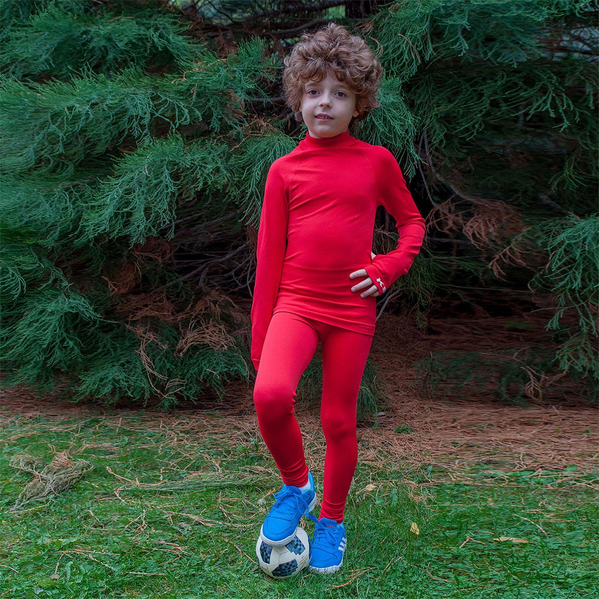 детски термо комплект ksport червен - снимка 1